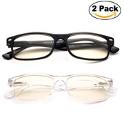 08cc571332 Newbee Fashion - Anti-Reflective Comfortable Computer Reading Glasses (No  Magnification) Helps Eye