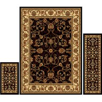 Home Dynamix Ariana Collection Oriental 3-Piece Area Rug Set for Traditional Home Decor