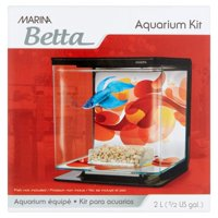Marina Betta 0.5-Gallon Aquarium Starter Kit, Sun Swirl
