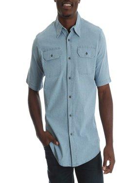 Tall Men's Short Sleeve Woven Shirt