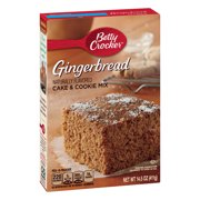 (2 Pack) Betty Crocker Gingerbread Cake and Cookie Mix, 14.5 oz
