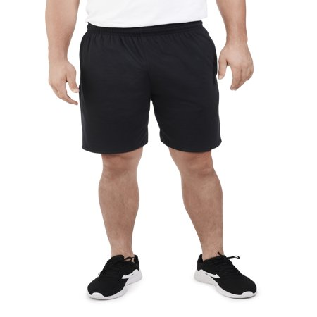 - Big Men's Dual Defense UPF Jersey Shorts with Pockets