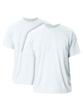 Men's and Men's Big Ultra Cotton T-Shirt, 2-Pack, up to size 5XL