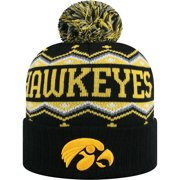 newest collection d109f c77ea Men s Russell Black Gold Iowa Hawkeyes Sewn Cuffed Knit Hat With Pom - OSFA