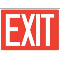 """Exit Sign, Accuform Signs, 219098-7X10A, 7""""Hx10""""W"""