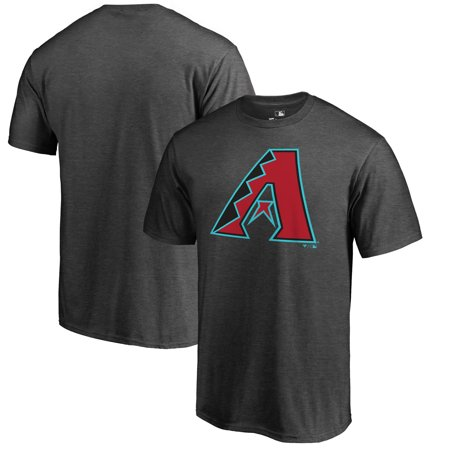 Arizona Diamondbacks Fanatics Branded Primary Logo T-Shirt - Heathered Charcoal - University Of Arizona Logo