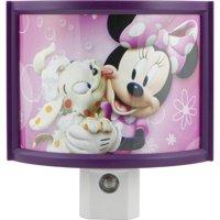 Disney Minnie's Bowtique LED Curved Shade Plug-In Night Light, Light Sensing, 13367