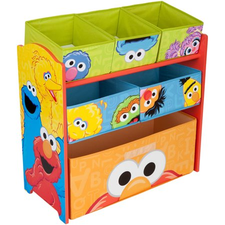 Sesame Street Multi-Bin Toy Organizer by Delta Children ()