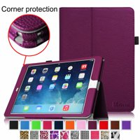 iPad Air 2 Case - Fintie Slim Fit Leather Folio Cover with Auto Sleep / Wake Feature, Purple
