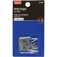 """1"""" Zinc Utility Hinge, 2 Pieces"""