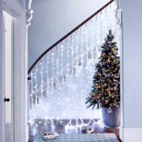 TORCHSTAR Icicle Lights, 16.4ft LED Christmas Tree Lights, Pure White