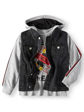 Hooded Denim Jacket with Graphic Tee, 2-Piece Set (Little Boys & Big Boys)