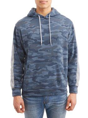 Men's Camo Print Fleece Hood with Kangaroo Pocket, up to size 3XL