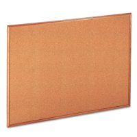 """Universal Natural Cork Board, 48"""" x 36"""", Oak-Finished Frame"""