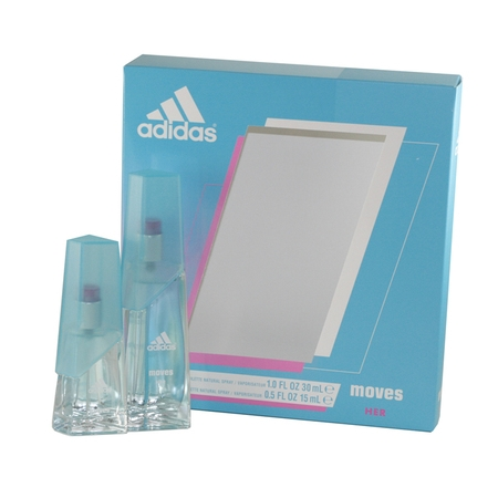 Adidas Moves 2 Pc. Gift Set ( Eau De Toilette Spray 1.0 Oz + Eau De Toilette Spray 0.5 Oz / 15 Ml )