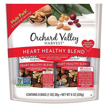 Orchard Valley Harvest Heart Healthy Blend Trail Mix, 1oz Bags (8 pk) - Trail Mix For Halloween