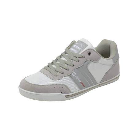 Silver Strappy Shoe - Alpine Swiss Liam Mens Fashion Sneakers Suede Trim Low Top Lace Up Tennis Shoes