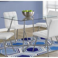 "Monarch Dining Table 36""X 48"" / Chrome With 8Mm Tempered Glass"