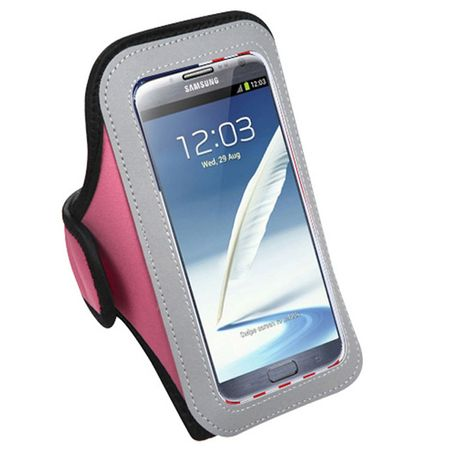Insten Vertical Pouch Pink Sport Armband Phone Holder Case For SONY ERICSSON Xperia L1, Xperia XZ Premium Xperia XA1 Ultra XPERIA Z3v Xperia XA Ultra Xperia Z2 NOKIA 5 Lumia 1320 6