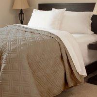 Somerset Home Solid Color Bed Quilt, King, Blue