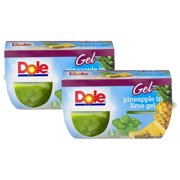 (8 Pack) Dole Fruit Bowls, Pineapple in Lime Gel, 4.3 Ounce (4 Cups)