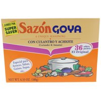 Sazon Goya with coriander and annatto. 6.33 Oz