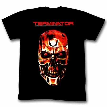 Terminator Movies Redterm Adult Short Sleeve T Shirt (Terminator Costumes For Adults)
