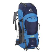 46aef86d15 60L Internal Frame Trekking Camping Travel Rucksack Water Resistant  Mountaineering Outdoor Backpack Hiking Bag. Product Variants Selector. Navy Blue  Black