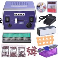 22000 RPM Electric Nail Drill Kit Machine File Bits Manicure Art w/ 300x Sanding Bands 30x Nail Drill Bits