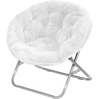 Mainstays Faux-Fur Saucer Chair, Multiple Colors