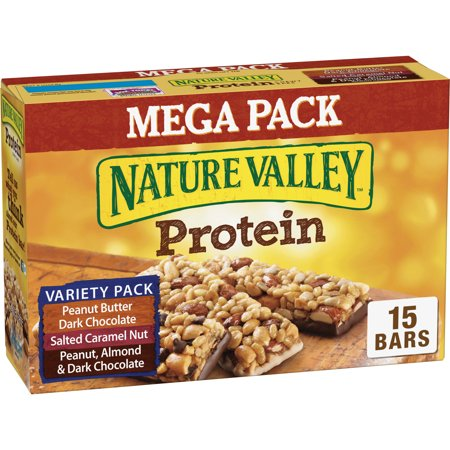 Nature Valley PB Dark Choc Salted Caramel Nut Protein Chewy Bars (Bass Nut)