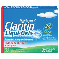 Claritin 24 Hour Non-Drowsy Allergy Relief Liqui-Gels, 10 mg, 30 Ct