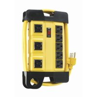 Coleman Cable Heavy Duty 8-Outlet Power Strip, 6-Foot,Yellow