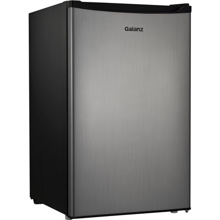 Galanz 4.3 Cu Ft Single Door Compact Refrigerator GL43S5, Stainless