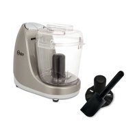Oster 3-Cup Mini Food Chopper with Whisk, Silver