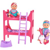 Kid Connection 16-Piece Pink & Purple Baby Doll Room Play Set
