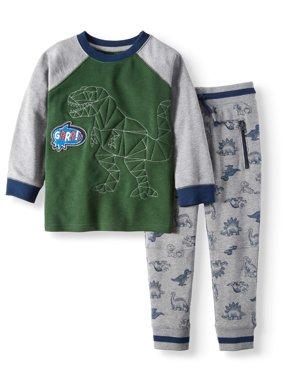 Fleece Dinosaur Outfit, 2-Piece Set (Little Boys & Big Boys)