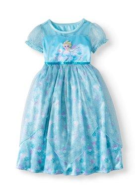 Frozen Elsa Short Sleeve Fantasy Nightgown (Toddler Girls)