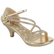 31c70746e75 Angel-48 Women Party Evening Dress Bridal Wedding Rhinestone Platform  Kitten Heel Sandal Shoe Gold