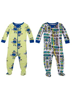 100% Organic Cotton Footed Stretchies Pajamas, 2-pack (Baby Boys & Toddler Boys)