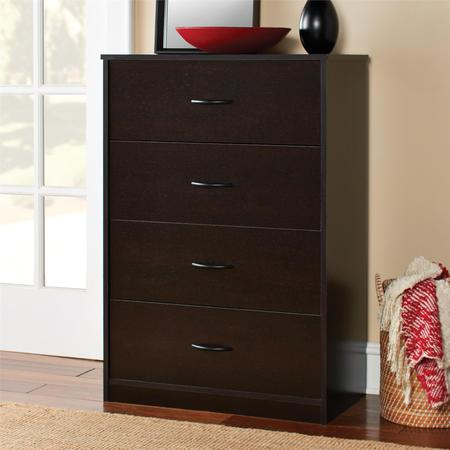 Mainstays 4-Drawer Dresser, Multiple (Modern Chest Drawers)
