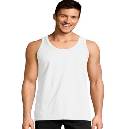 Hanes Mens ComfortWash Garment Dyed Sleeveless Tank Top, M, Saltwater