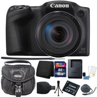 "Canon PowerShot SX420 IS 20.0MP HD 720p Video Recording 1.2.3"" CCD 42x Optical Zoom Lens 24-1008mm (35mm Equivalent) Built-In Wi-Fi ISO 1600 Black Digital Camera + 16GB Accessory Kit"
