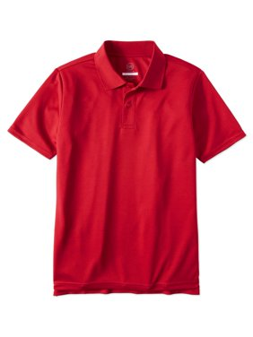 Boys Husky School Uniform Short Sleeve Performance Polo