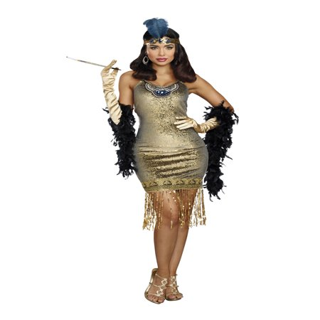 Dreamgirl Women's 1920's Golden Girl Flapper Costume - 1920 Flapper Hairstyles