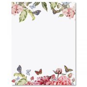 fe994c38d915 Flutter of Florals Easter Letter Papers - Set of 25 spring stationery papers  are 8 1
