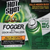 Hot Shot Indoor Fogger with Odor Neutralizer, 6 count