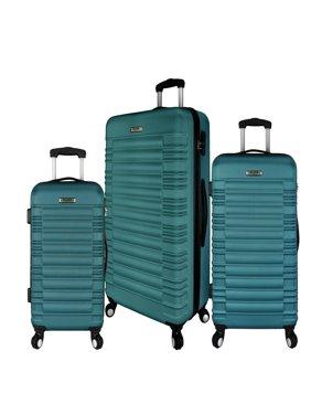 Elite Luggage: Tustin 3-Piece Hardside Spinner Luggage Set, Teal