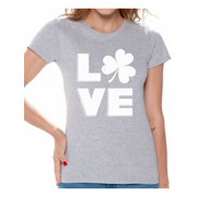 8e01ea06c Awkward Styles Love Shamrock Shirts for Women St Patricks Day T Shirt  Women's Lucky Shamrock Shirt