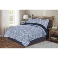 Mainstays Kirsten Blue Quilt in a Bag Coordinating Bedding Set